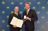 Dr. Lutz Spandau und Staatsminister Dr. Marcel Huber