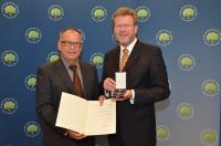 Prof. Dr.-Ing. Fritz Auweck und Staatsminister Dr. Marcel Huber