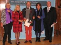 Aushändigung des Bundesverdienstkreuzes an Herrn Schmidt
