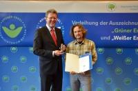 Marc Baumgart und Staatsminister Dr. Marcel Huber