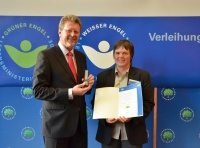 Claudia Klaas und Staatsminister Dr. Marcel Huber