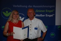 Jürgen Vollmer  und Staatssekretärin Melanie Huml