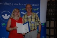 Dieter Preu und Staatssekretärin Melanie Huml