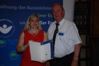 Reinhold Mauker und Staatssekretärin Melanie Huml