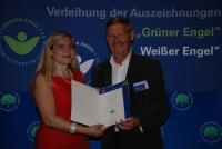 Josef Groh und Staatssekretärin Melanie Huml