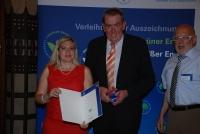 Werner Bucher mit stv. Landrat Hannsjürgen Lommer und Staatssekretärin Melanie Huml