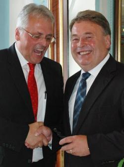 Der besondere Dank Eugen Stadlers galt Minister Brunner.