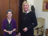 Die Bayerische Umweltministerin Ulrike Scharf tauschte sich bei einem Klimagespräch im Vatikan mit Staatssekretärin Dr. Flaminia Giovanelli über die Folgen des Klimawandels und die Päpstliche Enzyklika 'Laudato Si' aus.