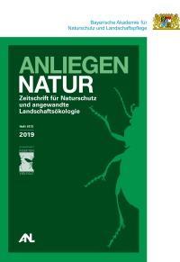 Titelbild ANLiegen Natur 41(1): Grünes Titelbild von ANLiegen Natur Heft 41/1 mit der Silhouette eines Laufkäfers.