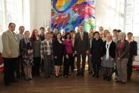 Staatsminister Dr. Marcel Huber mit Mitarbeitern der ANL.