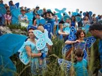 """""""Blue Butterfly Initiative"""" gegen die Zerstörung eines Schmetterlingsschutzgebiets in Polen (Foto: Marcin Siezelniew)"""