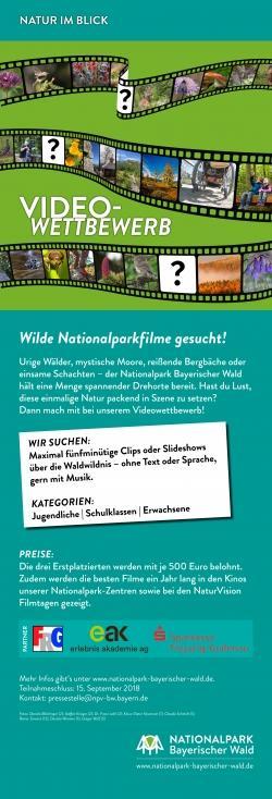 Plakat zum Videowettbewerb. (Grafik/Layout: Annemarie Schmeller/Nationalpark Bayerischer Wald)