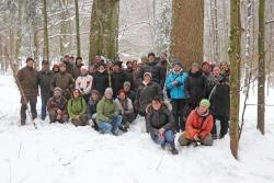 Die Junior-Ranger-Betreuer der Nationalen Naturlandschaften lernten den Bayerwald bei einigen Exkursionen hautnah kennen. (Foto: Gregor Wolf/Nationalpark Bayerischer Wald)