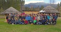 Aus ganz Deutschland reisten Studenten ins Wildniscamp, um sich hier ihr Handwerkszeug für das Commerzbank-Umweltpraktikum zu holen – dabei zeigte sich der Bayerwald nochmal von seiner winterlichen Seite. (Foto: Sinan von Stietencron)