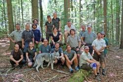 Ranger aus fünf Großschutzgebieten tauschten sich jüngst im Nationalpark Bayerischer Wald über die Herausforderungen ihrer Arbeit aus.  (Foto: Gregor Wolf/Nationalpark Bayerischer Wald)