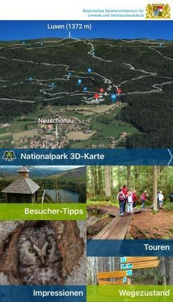Die Startansicht der neuen Nationalpark-App. (Foto: StMUV)