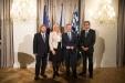 Betonten ein freundschaftliches und konstruktives Miteinander: Pavel Hubený (von links), Ulrike Scharf, Richard Brabec und Franz Leibl. (Foto: Martin Svozílek)