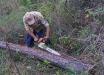Das im Nationalpark Bayerischer Wald zum Borkenkäfermanagement erprobte Rindenschlitzen testeten die Kollegen aus El Salvador gleich unter Anleitung ihrer Gäste. (Foto: Franz Leibl/Nationalpark Bayerischer Wald)