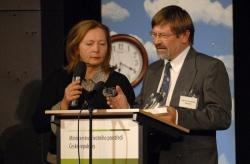 Nationalparkleiter Karl Friedrich Sinner bei der Preisverleihung. Foto Jan Symon