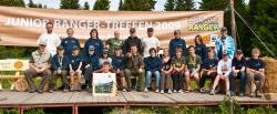 Junior Ranger aus dem Nationalpark Bayerischer Wald beim 7. Deutschen Junior Ranger-Treffen im Nationalpark Harz.
