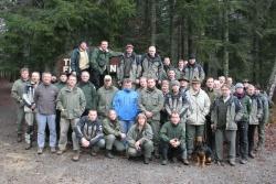 Ranger aus Deutschland und Tschechien stellten sich zum Erinnerungsfoto anlässlich eines Arbeitstreffens im Nationalpark Bayerischer Wald.Foto: Rainer Pöhlmann