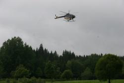 Hubschrauber bei Airborne-Laserscanning-Befliegung.Foto: Rainer Pöhlmann