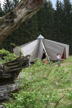 """""""Lichtstern""""  im Wildniscamp am FalkensteinFoto: Achim Klein"""