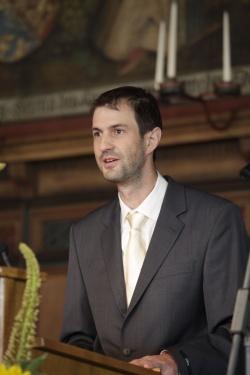 Dr. Jörg Müller bei der Preisverleihung im Fürstensaal des Rathauses in Lüneburg