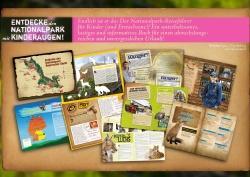 76 bunte Seiten mit kindgerechten Texten enthält das Buch: Abenteuer Nationalpark – Kinder auf Entdeckertour