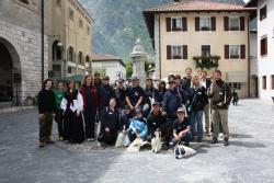 In Venzone trafen die Lindberger Juniorranger ihre italienischen Kollegen beim Tag der Parke.