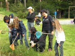 Für Kinder und Jugendliche bietet das Jugendwaldheim eine umfassende und abwechslungsreiche Betreuung für ein ungetrübtes Natur- und Walderlebnis.  Foto:  Nationalpark Archiv