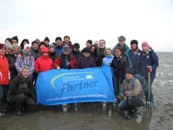 """""""Wald traf Watt"""": Die Nationalpark-Partner besuchten im März 2011 ihre Kollegen im Nationalpark Schleswig-Holsteinisches Wattenmeer."""