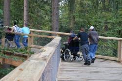 Der Baumwipfelpfad im Nationalparkzentrum wird von gehbehinderten Menschen gerne besucht (Foto Die ErlebnisAKADEMIE AG).