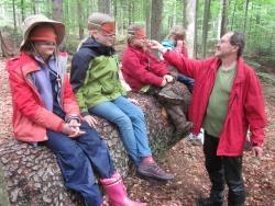Schwammerl schmecken: die Teilnehmer der Schammerltage im Hans Eisenmann Haus erriechen die Pilze des Waldes