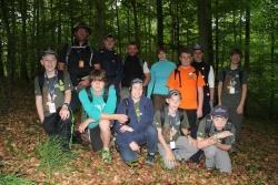 In den Wäldern des Nationalparks Hainich fühlte sie die Delegation der Juniorranger aus dem Bayerischen Wald ganz heimisch. Hintere Reihe links: Juniorranger-Beauftragter Mario Schmid; Seniorranger Thomas Drexler (3. v. l.) und Frauenbeauftragte Alexandra Mörl (4. v. l.)