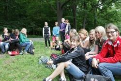 Schülerinnen der Staatlichen Realschule Freyung und des Goethe Gymnasiums Sebnitz bei ihrem Abschlusstreffen im Nationalpark Sächsische Schweiz