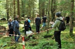 Schüler des Gymnasiums Zwiesel erforschen die Wälder des Nationalparks und kartieren Waldstrukturen