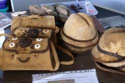 Nicht nur zum Essen gut - manche Pilzart kann auch zu Hüten oder Taschen weiterverarbeitet werden