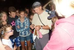 Ein Zoologe der Parkverwaltung gab den Kindern Einblick in das Leben der Fledermäuse