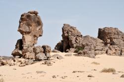 Sandsteinformation westlich Tassili N`Ajjer(Foto: Dr. W. Zielonkowski)
