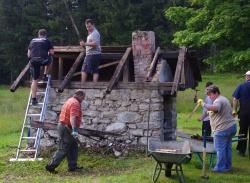 Mit Spaß bei der Arbeit (Foto: NPV Bayerischer Wald)