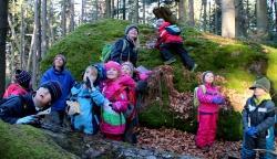 Herbstferien im Nationalpark – das ist Bastelspaß und Waldabenteuer, zu dem alle Kinder herzlich eingeladen sind. (Foto NPV Bayerischer Wald)