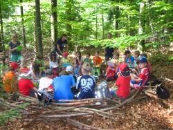 Projektwoche der Montessori-Schule Freyung im Jugendwaldheim. Bildautor: NPV