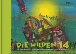 """Bilderbuch """"Die wilden 14"""": Auf 48 Seiten erzählen Autor Thomas Michler und Illustratorin Susanne Zuda von der unglaublichen Reise der Urwaldkäfer im Bayerischen Wald. Bild(er): edition Lichtland"""