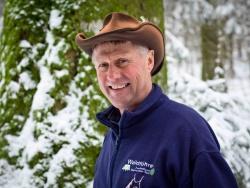 """Josef Eichinger (58), seit drei Jahren Waldführer: """"Das Schönste am Waldführer-Dasein ist, andere für diese wunderbare Natur begeistern zu können."""" Bild: NPV BW"""