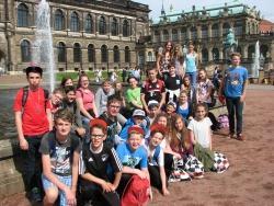 Sightseeingtour in der sächsischen Hauptstadt Dresden: Besuch im Zwinger (Foto: NPV)