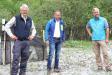 """Richard Mergner, Vorsitzender des Bund Naturschutz in Bayern, der Bayerische Umweltminister Thorsten Glauber und Nationalparkleiter Dr. Roland Baier (v.l.) trafen sich anlässlich des Jubiläums """"100 Jahre Naturschutzgebiet Königssee"""" zu einer Festveranstaltung im Nationalpark Berchtesgaden."""